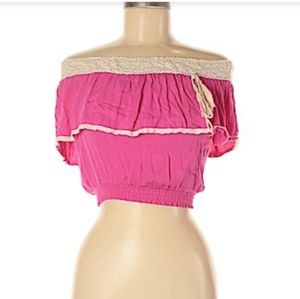 Flying Tomato Pink Short Sleeve Top Size M